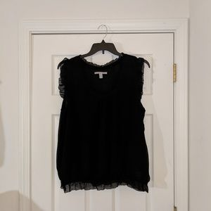 Old Navy semi sheer black sleeveless blouse sz XXL